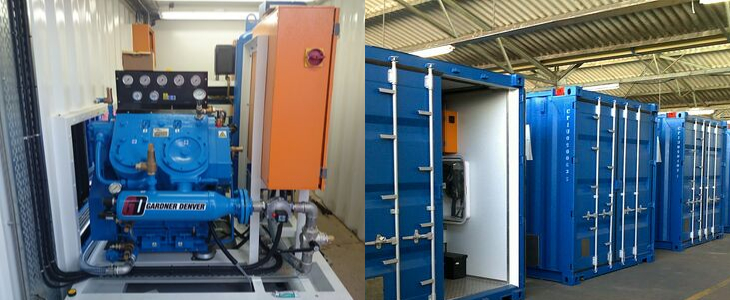 Onsite Filling Unit for Fabrication  Gases Bottle Refilling